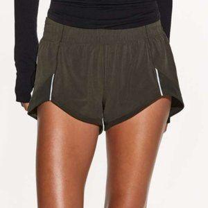 Lululemon Miles Ahead Green Mesh Shorts New 6
